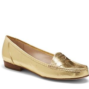 NWOB Louise et Cie Snake Embossed Penny Loafer